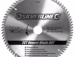 Silverline Hartmetall-Furniersägeblatt T80 244964