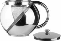 Transparante Secret de Gourmet - Theepot met filter - 1.1L - RVS