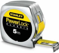 Stanley meetlint PowerLock, mylar. coating, (lxb) 5mx19mm, behuizing kunststof