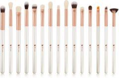 Dermarolling 15-Delige Witte Make Up Kwasten Set DF1536