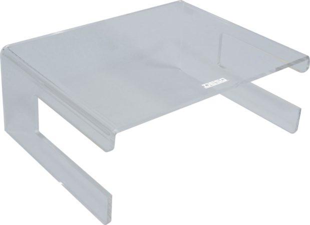 Afbeelding van Transparante DESQ® Monitorverhoger van hoogwaardig acryl | Met ruimt voor keyboard | Max. 15 kg