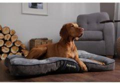 Grijze Scruffs Chester Mattress - Hondenkussen - Graphite - L - 100 x 70 x 8 cm