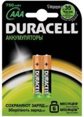 Duracell Oplaadbare Batterijen - AAA Alkaline - 750 MaH / DC2400 HR03 - 2 Stuks