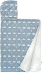 Blauwe Fresk badcape Whale 100x75 cm