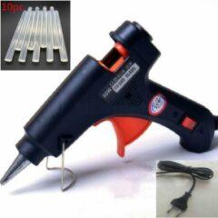 Zwarte Merkloos / Sans marque Lijmpistool - Incl 10 lijmsticks - 20w - Glue gun - Hobby - Creatief - Knutselen - 7 mm