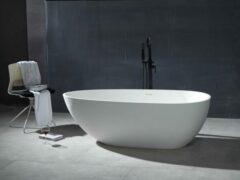 Mawialux vrijstaand bad | Solid surface | 170x85cm | Mat wit | ML-107-VBMG-MW