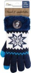 Merkloos / Sans marque Touchscreen gebreide winter handschoenen Nordic/navy blauw voor dames - Smartphone handschoenen