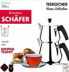 Zilveren Schäfer Schafer Turkse theepot (1.25 L - 2.10 L) - medium