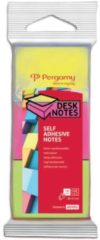 Pergamy notes, ft 38 x 51 mm, pak van 3, neon geel, neon roze en neon groen