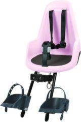 Roze Bobike Go Mini fietsstoeltje voor cotton candy pink