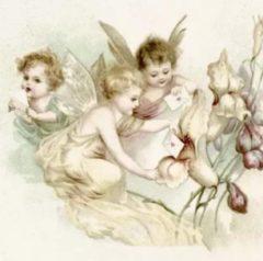 Sagen Vintage Design Sagen Vintage servetten - Angels and Letters - V89 - 33 X 33cm
