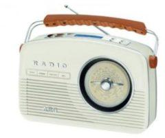 Creme witte AEG NDR 4156 DAB+ RETRO RADIO CREME