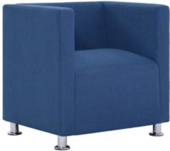 5 days Fauteuil kubus polyester blauw
