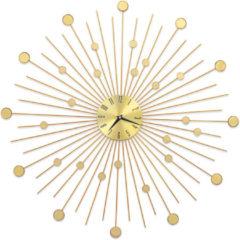 Gele VidaXL Wandklok 70 cm metaal goudkleurig