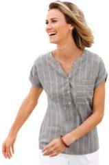 Bruine Casual Looks blouse in iets gemêleerde linnen-look