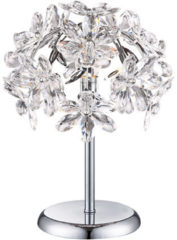 Globo Lighting Tafellamp Globo Juliana - Chroom - Heldere acrylbloemen