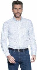 Lichtblauwe Campbell Casual overhemd met lange mouwen licht blauw