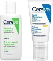 Cerave Best Selling Duo SMALL: Facial Moisturising Lotion PM SPF25 52ml + Hydrating Cleanser 88ml