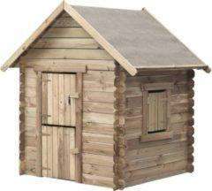 Bruine SwingKing Swing King speelhuis Louise 120x120x160cm - Geïmpregneerd FSC hout