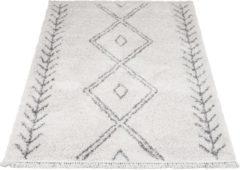 Creme witte Home67 Vloerkleed Rabat - 140 x 200 cm - Cream - Shaggy Berber - Trend