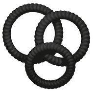 Zwarte You2Toys penisring Lust met 3 penisringen, geschikt om gelijktijdig te dragen