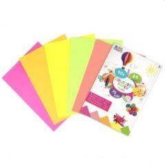 Craft Sensations Gekleurd papier Fluor | Formaat A4 | 40 vellen | 75 Gram | 5 verschillende kleuren | Papier | vouwen | Origami | Knutselpakket | voor kinderen
