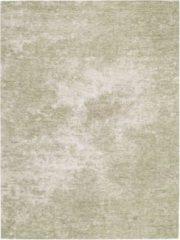Ginore Vintage Tapijt Flow - Grunge Pistache - 140x200 Groen Vloerkleed