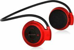 Poqlo Sporthoofdtelefoon mini 503 - Unisex - Bluetooth V5.0 - Draadloze Hoofdtelefoon - MP3-Kaartlezer- FM - Rood