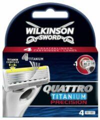Wilkinson Sword Quattro Titanium Precision - 4 stuks - Scheermesjes