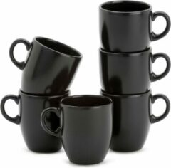 Lite-Body Hermes Koffie beker - 20cl - set van 6 stuks - Zwart mat