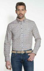 Beige Campbell Classic Casual Overhemd Heren lange mouw