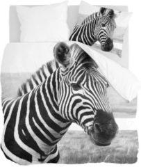 Byrklund Beastly - Dekbedovertrek - Lits-jumeaux - 240x200/220 cm + 2 kussenslopen 60x70 cm - Zwart/wit
