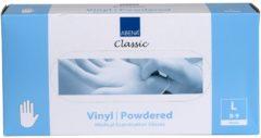 Witte Abena - Vinyl Handschoenen - Wit - Gepoederd - Maat L - 100 Stuks