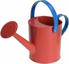 Merkloos / Sans marque Rode stalen speelgoed gieter 15 cm voor kinderen - Zandbakspeelgoed/strandspeelgoed gieters voor kinderen