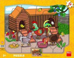 Dino Toys Figurenpuzzel het Kippenhok 12 stukjes