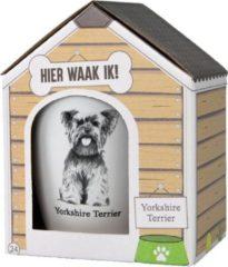 Witte Paper dreams Mok – Yorkshire Terrier – Dier – Puppy – Hond – Dieren – Mokken en bekers – Keramiek – Mokken - Porselein - Honden – Cadeau - Kado