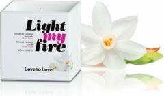 Love to Love Light My Fire Luscious Massagekaars - White Musk
