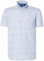 Bordeauxrode Campbell Casual overhemd met korte mouwen bordeaux