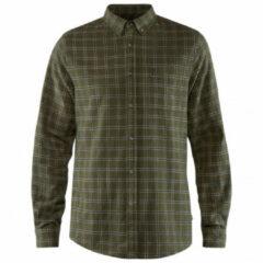 Fjällräven - Övik Flannel Shirt - Overhemd maat L, olijfgroen/zwart/bruin