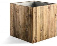 Bruine Luca lifestyle Marrone Wood Box Wheels 60 cm (+ inzetbak) -XL