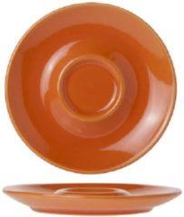 Oranje Cosy&Trendy Bola Orange Koffiebordje D14.5cm set van 12