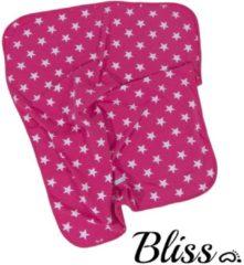 Bliss Babydeken - Wikkeldeken - Omslagdoek - Wiegdeken - Dekentje - Ster Donkerroze