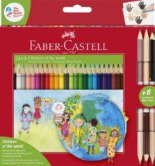 "Kleurpotloden Faber-Castell driekant, ""Children of The World"" in kartonnen etui á 24+3 stuks FC-201745"
