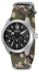 Zilveren Invicta Coalition Forces 33628 Quartz Dameshorloge - 38mm - Met extra banden
