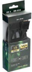 Zwarte ABC-LED - VGA (D-Sub) naar VGA (D-Sub) - 3 m