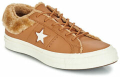 Bruine Lage Sneakers Converse ONE STAR LEATHER OX