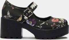 Koi Footwear Tira Floral Mary Janes Pumps Zwart