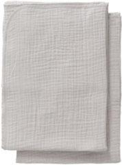 Licht-grijze Cottonbaby Multidoek soft S 60x70 per2 lichtgrijs