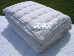 Witte TIMZO Zuiver Katoen Dekbed.4-Seizoenen 100x135 cm (Wasbaar 90 graden C)