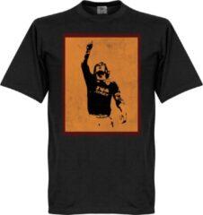 Merkloos / Sans marque Totti Silhouette T-Shirt - Zwart - M